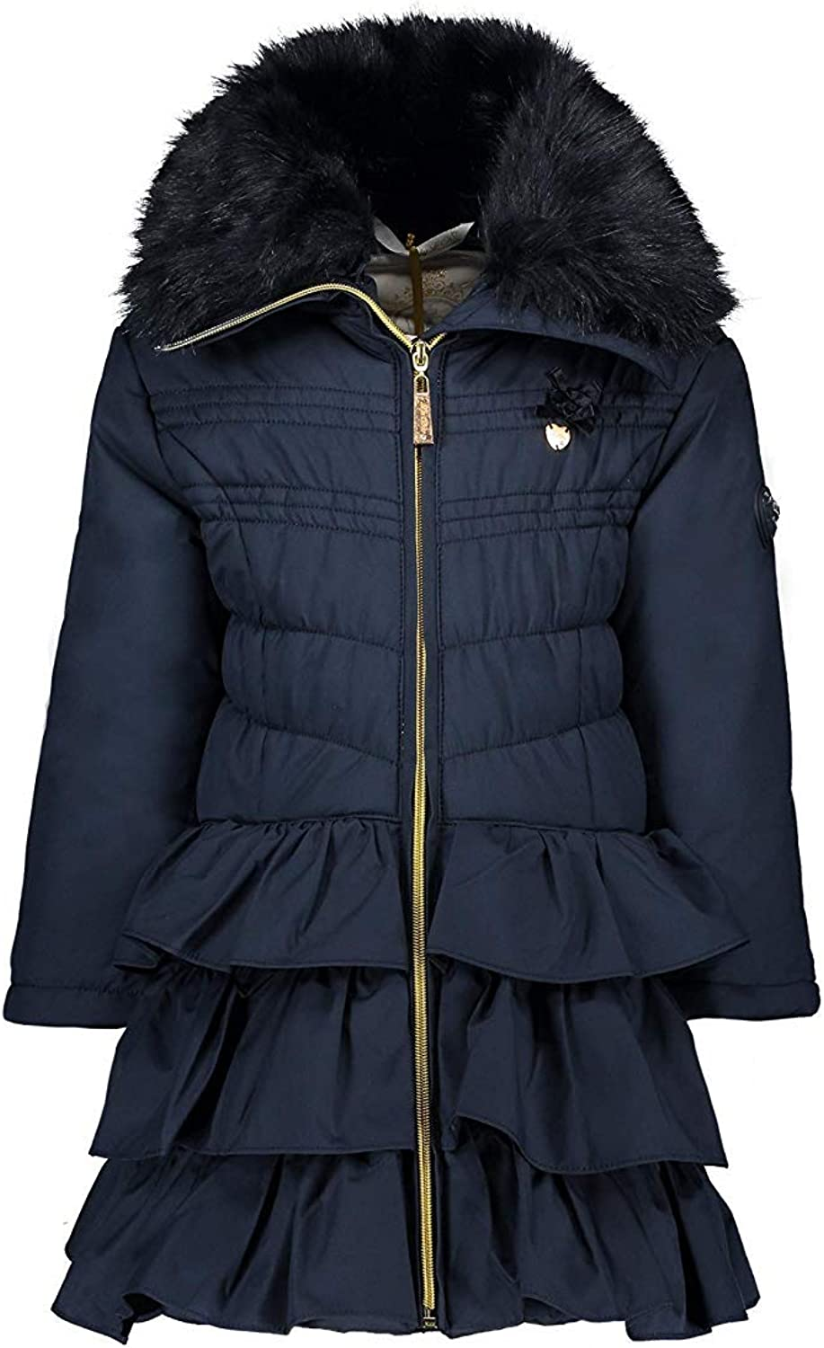 Le Chic Girl Girl Winter Coat Winter Jacket Long Blue Navy C907 5214 190