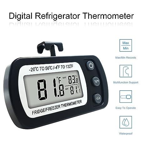 Termómetro Digital para refrigerador, FlatLED impermeable ...
