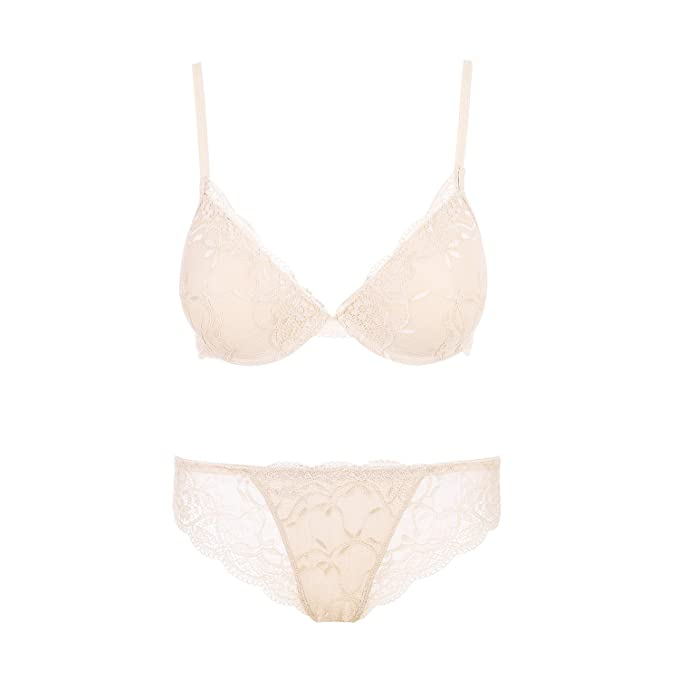 e279c482c0 SUNNOW Ladies Women s Sexy Deep V Lace Bra Sets With Briefs Knickers ...