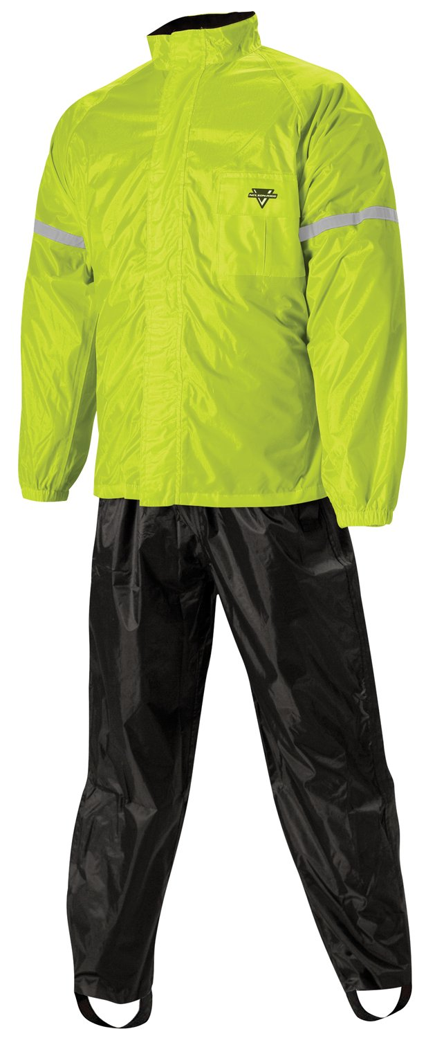 Nelson-Rigg WeatherPro 2-Piece Rainsuit (Black/Hi-Visibility Yellow, XXX-Large)