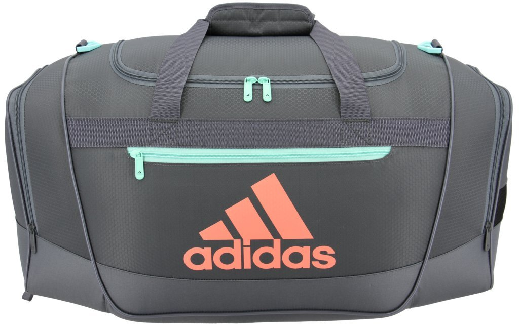 dc2b04411c adidas Defender III Duffel Bag Green Chalk Coral Small New