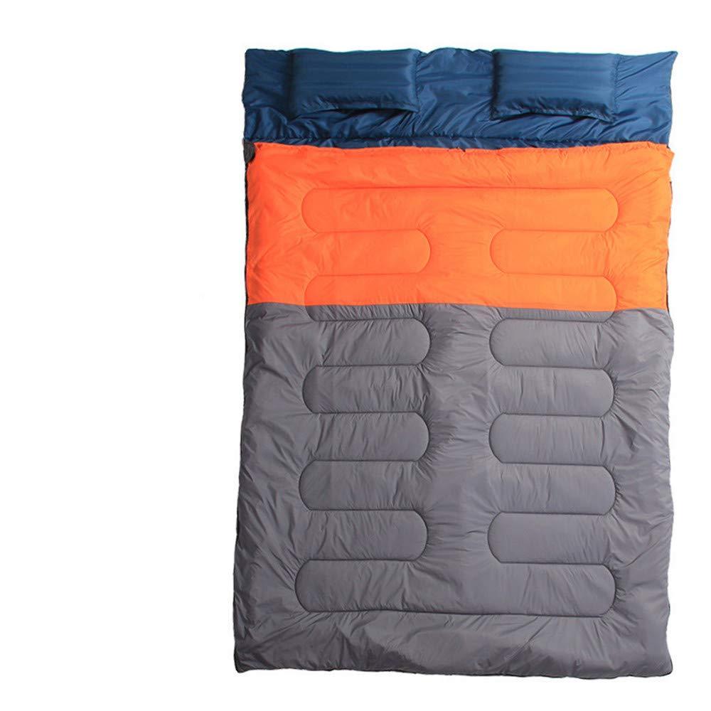Unisex Outdoor Schlafsack Camping Double Schlafsack, konGrüniert in 2 Singles große Größe Fit für Camping Reisen im Freien Liebhaber wählen 4 Jahreszeiten Camping Wandern Reißverschluss Schlafsack
