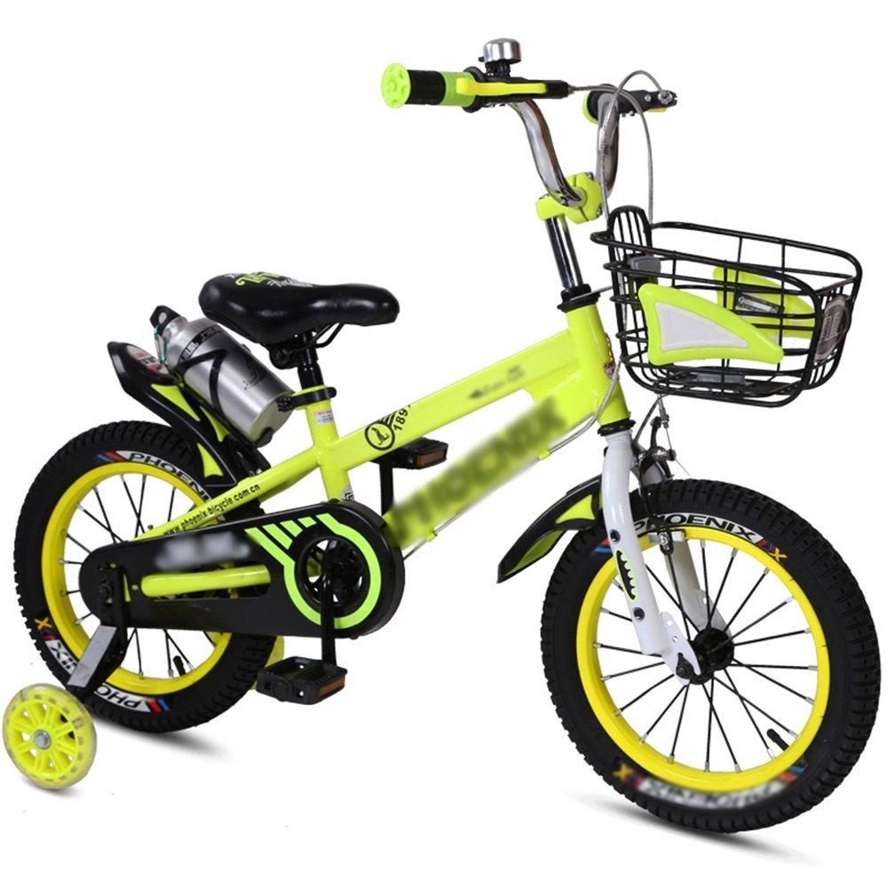 HAIZHEN マウンテンバイク 子供用自転車ベビーキャリッジ12/14/16/18インチマウンテンバイクブルーオレンジレッドイエロー環境保護材料 新生児 B07CCK4QZX 16 inch|イエロー いえろ゜ イエロー いえろ゜ 16 inch