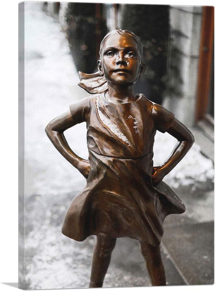 ARTCANVAS Fearless Girl New product type Statue Closeup Art York Canvas Minneapolis Mall Print