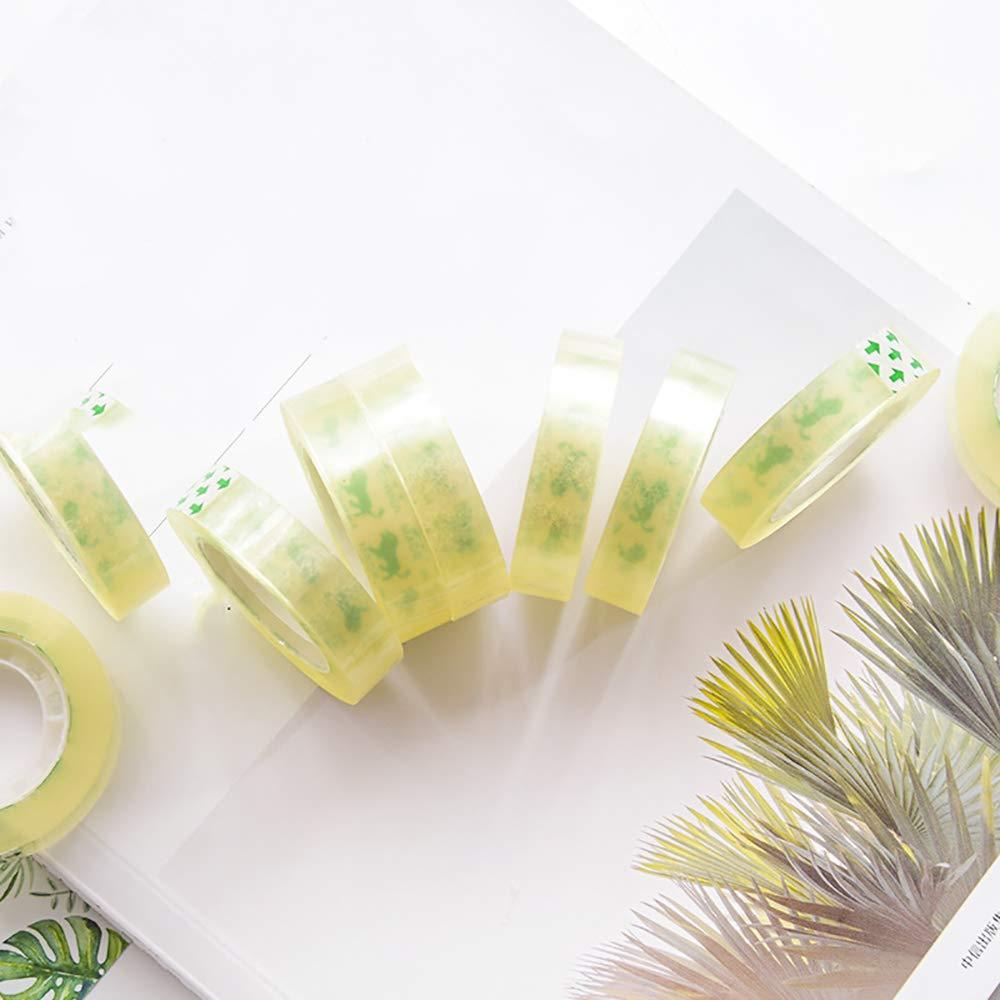 Transparente 10 Rollos Kitchen-dream Cinta de utilidad de oficina de uso general de 12 mm paquetes y cajas peque/ñas envoltura de regalos navide/ños cinta adhesiva para todo uso Ideal para letras