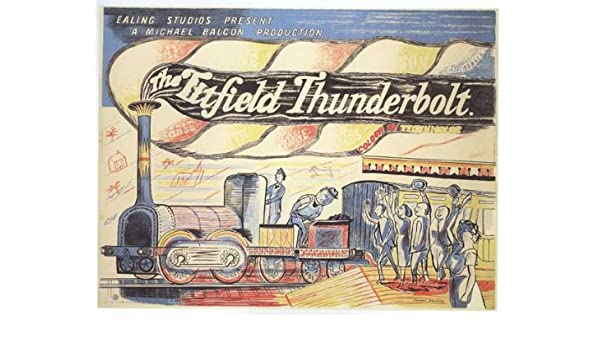 old movie advertising wall art poster reproduction. The Titfield Thunderbolt