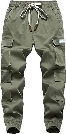 LAUSONS Pantalones Cargo para Niños Bolsillo Múltiple
