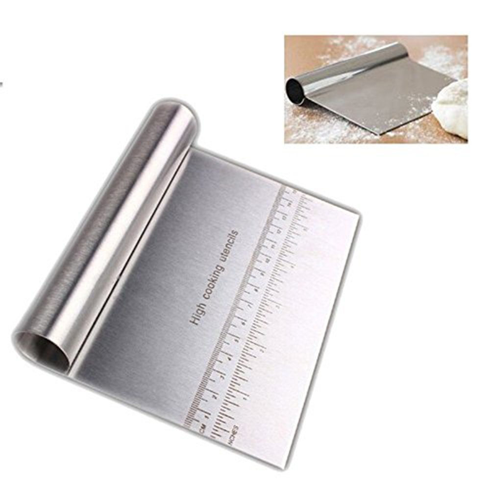 Dough Pastry Scraper/Pizza Cutter/Stainless Steel Cutting Knife/Noodle Knife/Flour Scraping/Baking Tools/Rice Flour Scraper