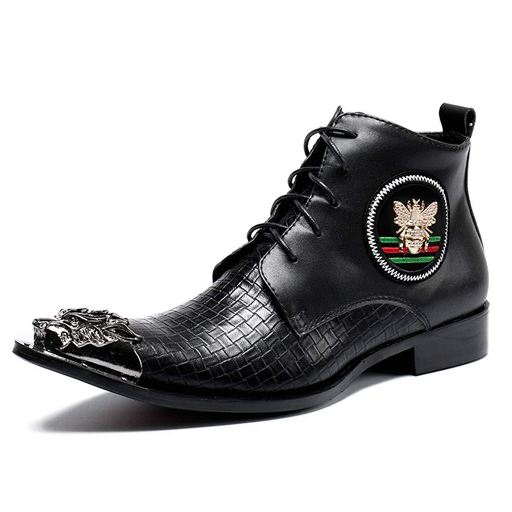 YAN Herren Lederschuhe schnüren Sich Mode Stiefeletten wies Business Business Business High-Top-Kleid Schuhe Winter britische Stiefel halten warme Stiefel schwarz/Party & Abend (Farbe : Schwarz, Größe : 46) B07JW4J1G9 2ff3d5