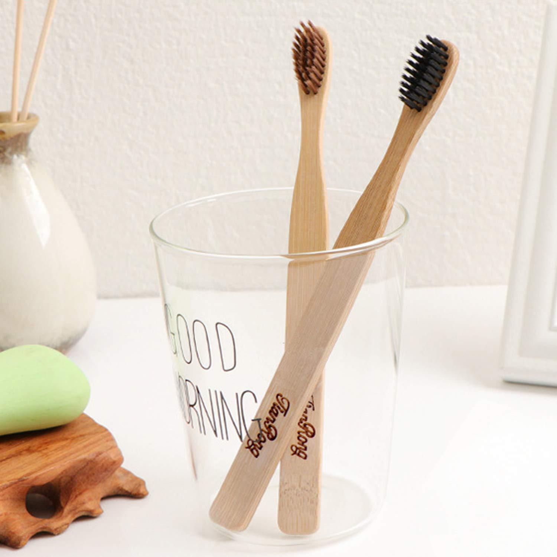 Lomas Premium Bambus Zahnbürste im 2er-Set - Das Original - Vegan, BPA-frei und umweltfreundlich - Hochwertige Holzzahnbürste für die ganze Familie