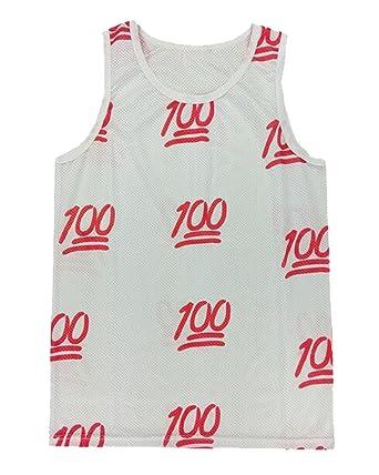 XQS para hombre Funny 100 puntos impresión de baloncesto sin ...