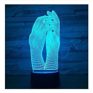 Amazon.com: Shuangklei - Lámpara de mesa LED con diseño de ...
