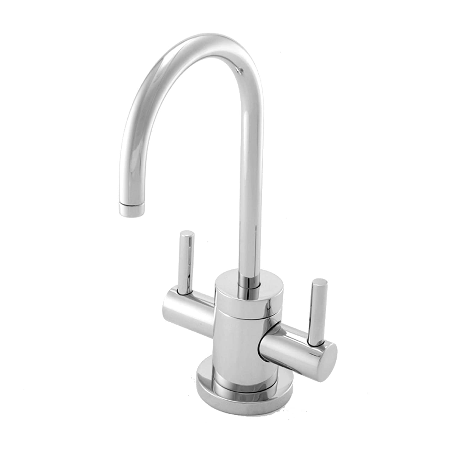 Newport Brass 106 Double Handle Hot/Cold Water Dispenser from the East Linear, Polished Chrome