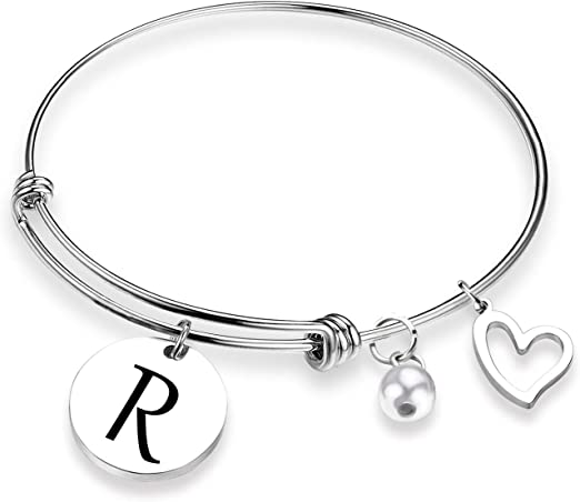Personalized Mom Bracelet She Stole my Heart Wire Bangle Mother Daughter Jewelry Hand Stamped Gift for Mom