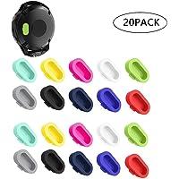 CKANDAY 20 Pcs Colorful Charger Port Protectors Compatible Garmin Vivoactive 3 Fenix 5 5S 5X Plus, Replacement Anti Dust Plugs Compatible Forerunner 935 Approach S60 Quatix5 Vivosport