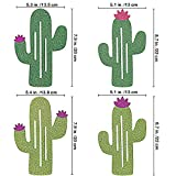 16 Pcs/15.6 (2 Pack) Fiesta Bachelorette Graduation Party Cactus Banner Garland Backgound String Cactus Glitter Green for Kids Birthday Summer Tropical Wedding Taco Cinco De Mayo Party Decor Favor