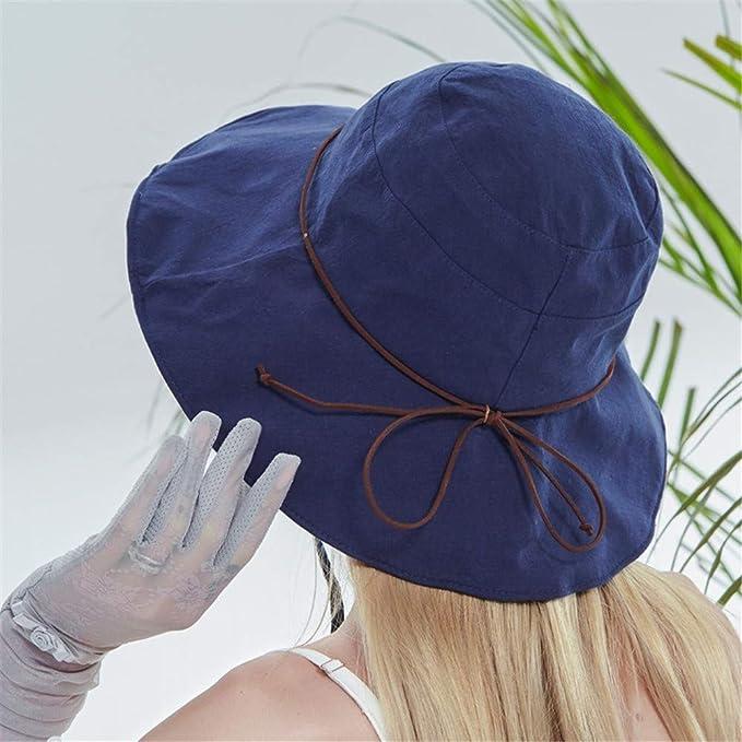 Sombrero de ala Ancha de algodón para Mujer Sombrero para el Sol Sombrero sólido Sombrero de Playa Sombrilla para el Sol Sombreros Plegables Protección contra la radiación Ultravioleta Sombrero para: Amazon.es: Ropa