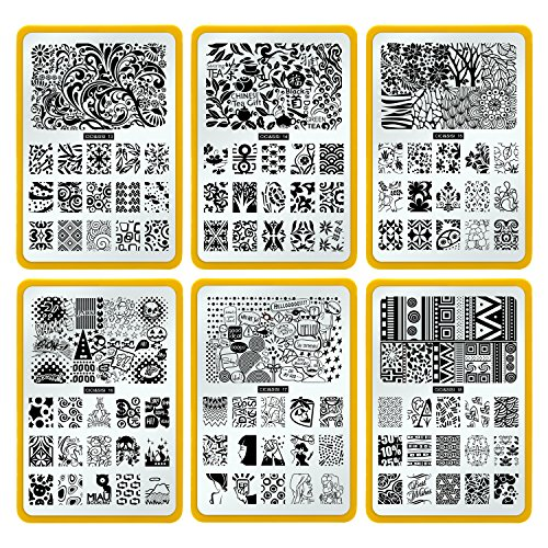 CICI&SISI Nail Art Stamp Collection Set Jumbo 3- Set of 6 JUMBO ...