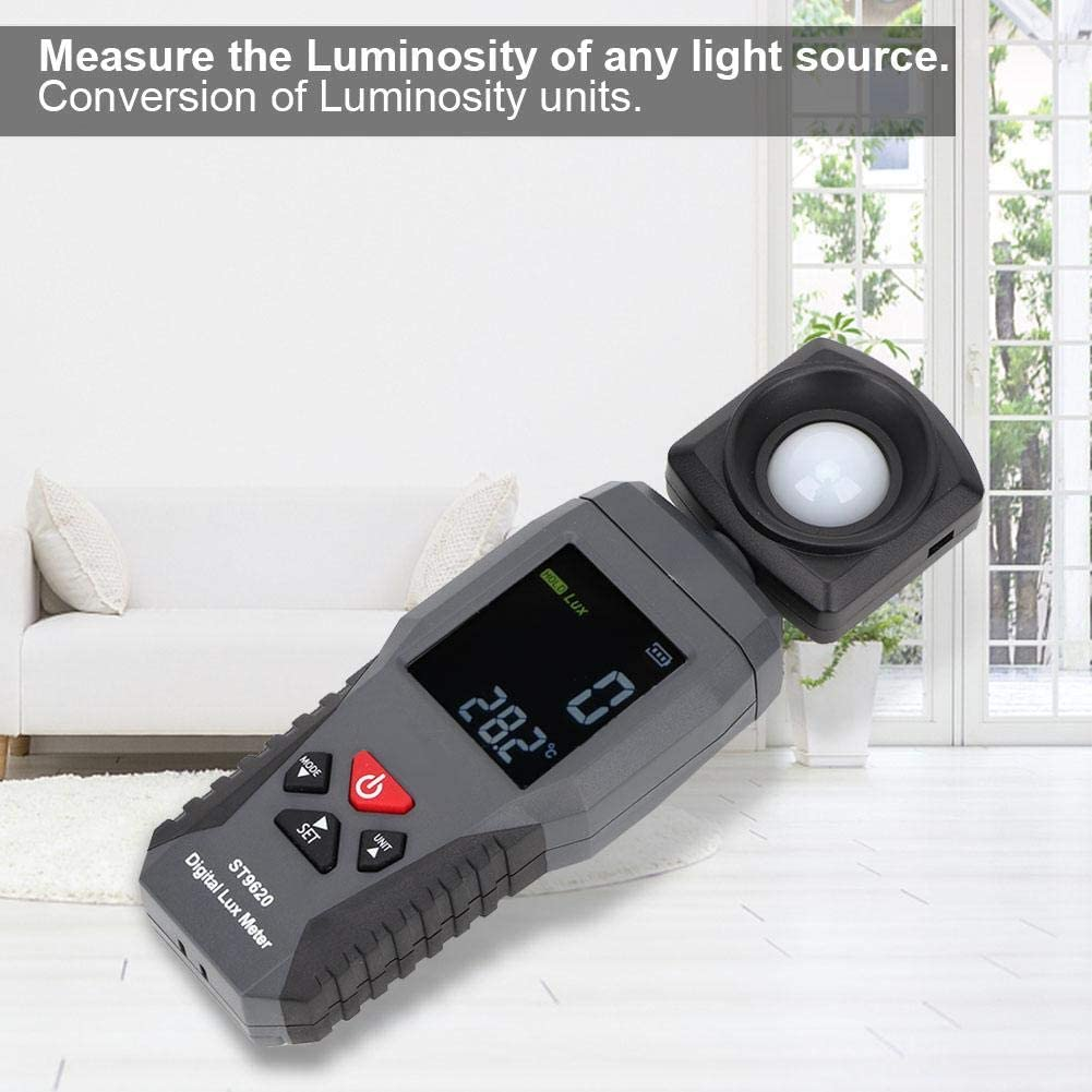 Marhynchus Luxmeter High Accuracy SMART SENSOR Digital Luxmeter LCD Display Light Meter Environmental Testing Illuminometer with Instruction Manual