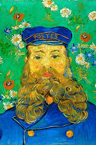 Vincent Van Gogh Portrait of The Postman Joseph Roulin 1888 Oil On Canvas Painting Stretched Canvas Wall Art 16x24 - Stretched 1888 Canvas