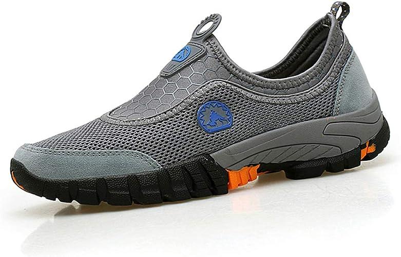 Zapatos Hombre para Correr Sneakers Malla Ligero Zapatillas de Entrenamiento Cómodo Casual Marrón Gris Azul Ejercito Verde 38-46 Gris 38: Amazon.es: Zapatos y complementos