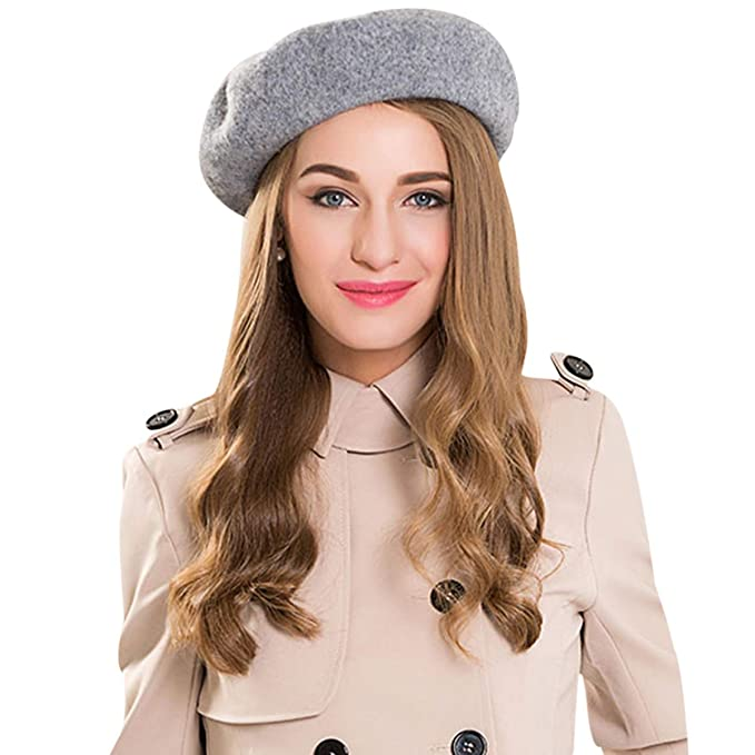 434af895 DORRISO New French Style Plain Quality French Beret Hats for Women Girls  Cap One Size Beret