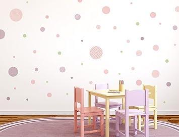 Wandtattoo Kinderzimmer Wandsticker Set Kreise Mit Muster Fur
