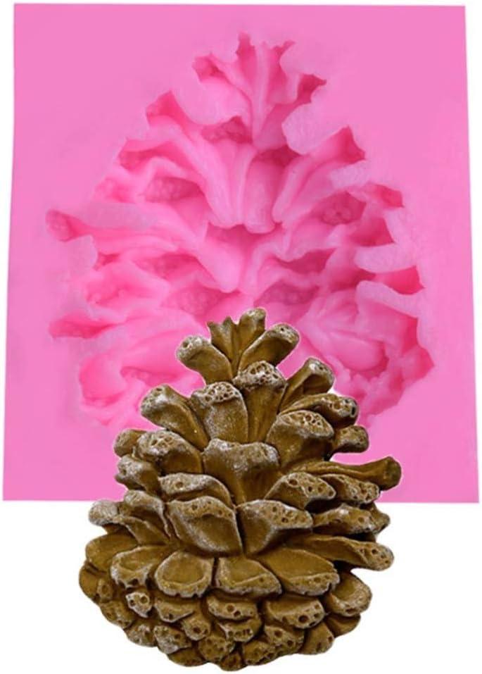 iplusmile Natale Pigna Stampi in Silicone Fondente Dessert Cioccolato Cubetto di Ghiaccio Stampo Caramelle per Feste per Bambini E Stampo da Forno Decorazione Torta Fai da Te Rosa