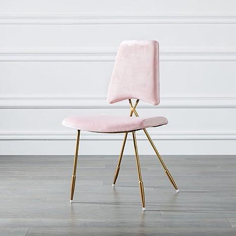 Amazon.com: Sillas de comedor silla de acero pierna Lazy ...