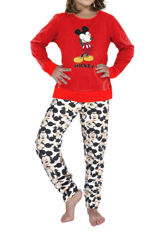 Disney Pijama Manga Larga Navidad Mickey para Niña: Amazon ...