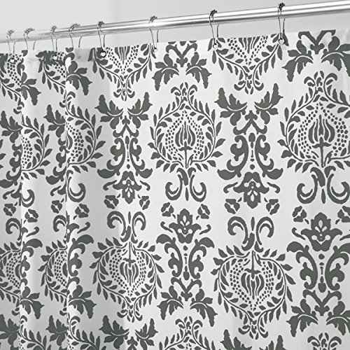 (mDesign Toile Fabric Shower Curtain - Stall, 54