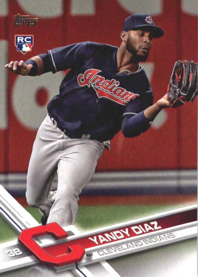 2017 Update #US151 Yandy Diaz RC Indians Baseball