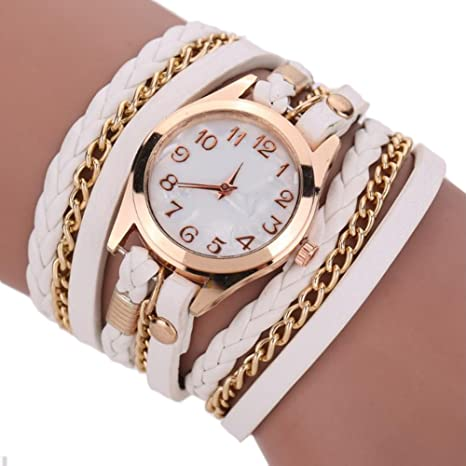 Dosige Pulsera del Relojes Retro Estilo Romano Cuarzo Reloj de Pulsera Mujeres Accesorios de Moda(