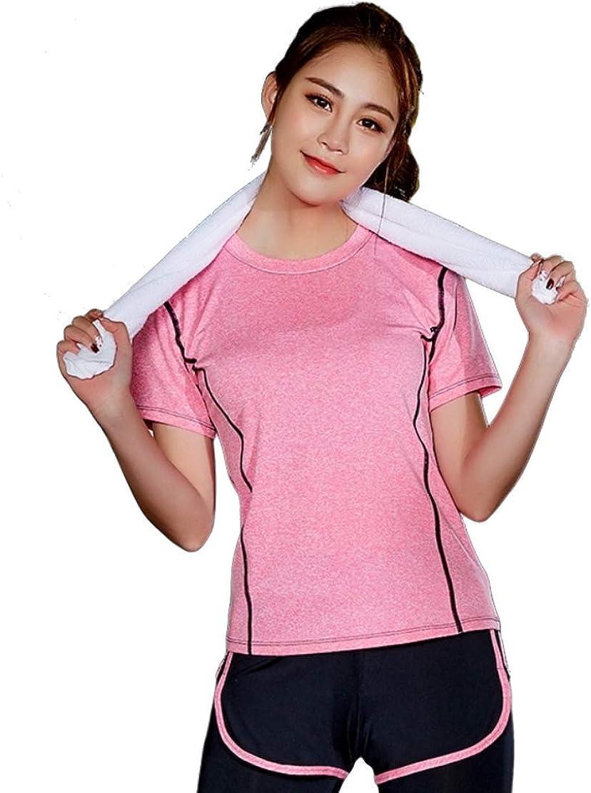 Pantalones Cortos Gym Yoga Workout Cintura Ropa Deportiva Mujer Ropa Deportiva Camiseta Casual Camiseta Conjunto Corto 2 Piezas de Deportes de Tenis