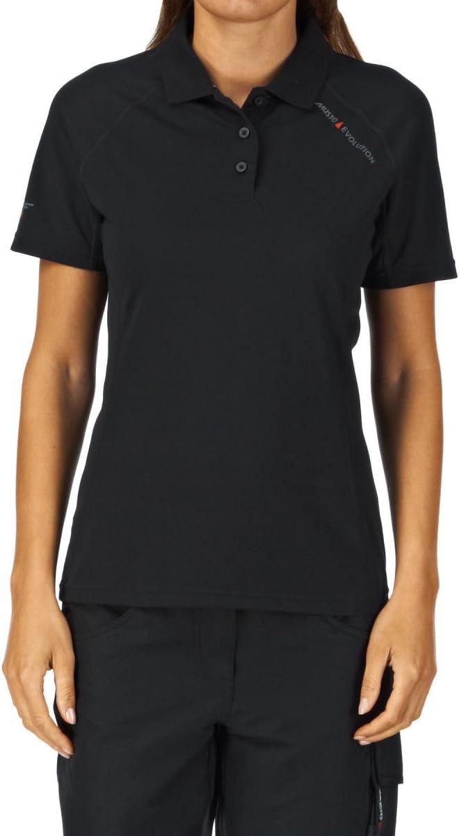 Musto Ladies Evolution Sunblock Polo Top en Negro - Mujer - Camisa Polo cómoda con protección SPF40: Amazon.es: Deportes y aire libre
