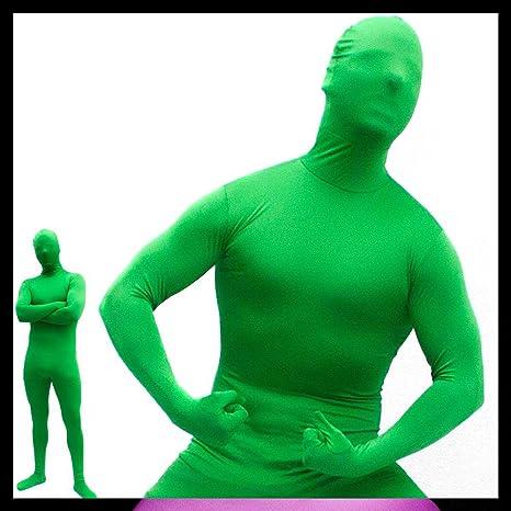 Goods & Gadgets GmbH Hautenger Ganzkörper Body Suit Green Man Anzug Kostüm aus Spandex-Lycra - Medium