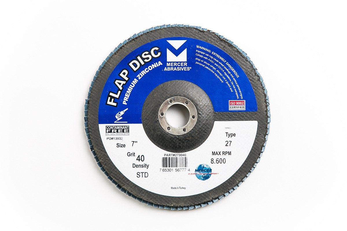 Mercer Industries 273040 Zirconia Flap Disc, Type