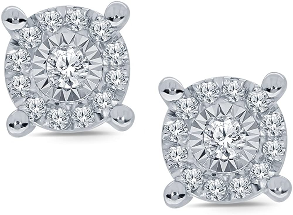 Top 10 Diamond Cluster Stud Earrings Miracle Plate