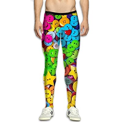 Olivefox Fit Clothes UV for Men Compression Sports and Fitness Tights Workout Pants Breathable Star Buttons Cool Dry Baselayer Running Leggings Yoga 3D Apparel Print Pant