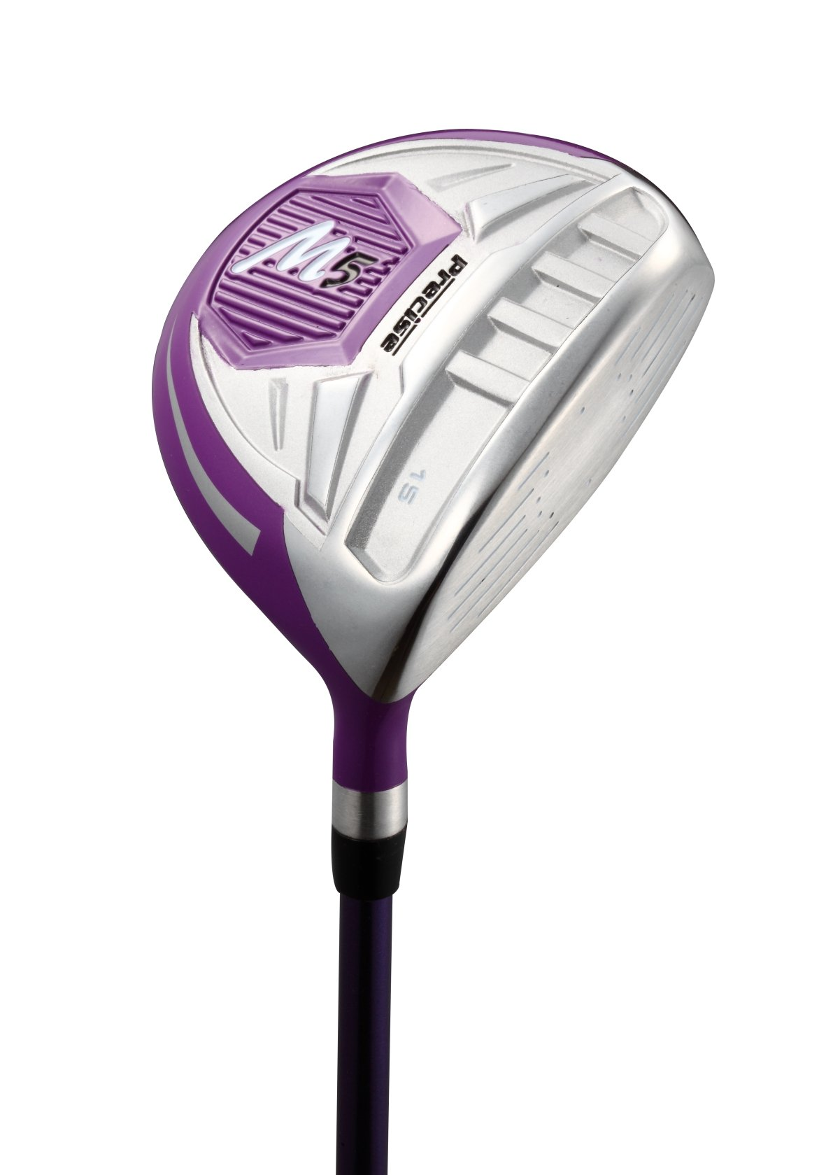 Precise M5 Ladies Womens Complete Right Handed Golf Clubs Set Includes Titanium Driver, S.S. Fairway, S.S. Hybrid, S.S. 5-PW Irons, Putter, Stand Bag, 3 H/C's Purple (Right Hand) by PreciseGolf Co. (Image #3)
