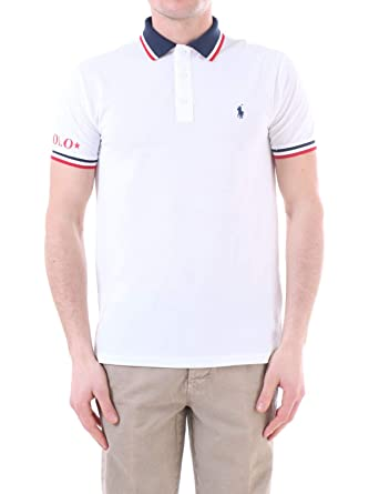 33bf3f37 Ralph Lauren - Polo Short Sleeve White Strip at Amazon Men's Clothing store: