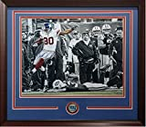 Victor Cruz Autographed Signed 99 Yd Td Jets 20X24 Photo Framed Giants Coin Auto Steiner Coa