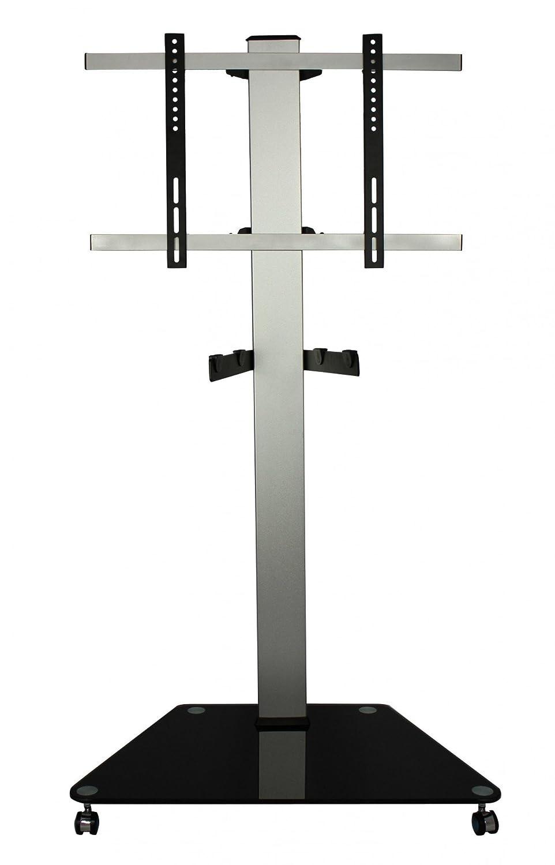 TV Ständer mit Rollen, höhenverstellbar, 26 bis 47 Zoll, mit Tragarm, VESA 300x300, 400x200, 400x400 und 600x400