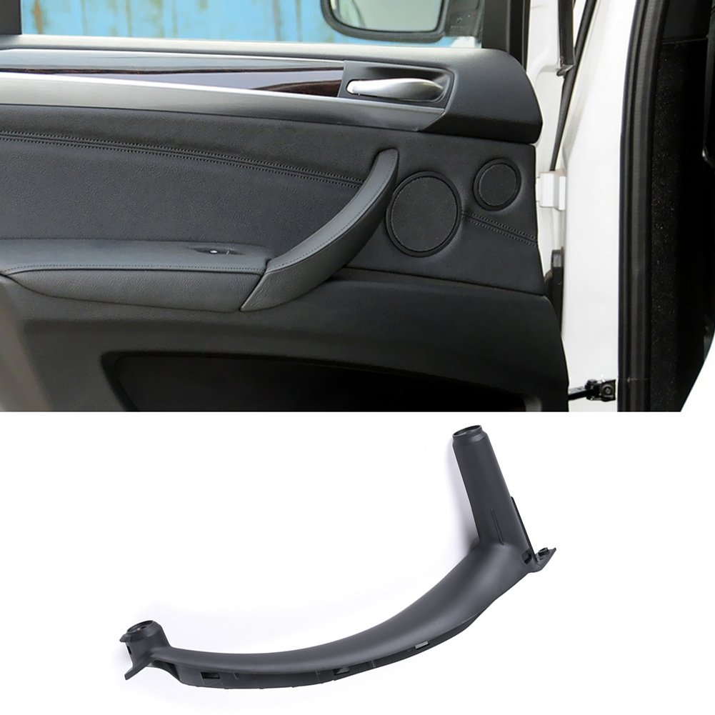 Jaronx for BMW X5 X6 Door Pull Handle, Inner Door Trim Grab Cover Pessenger Side Right Front/Right Rear Door Armrest Bracket (Fits:BMW X5 2008-2013 and BMW X6 2008-2014)
