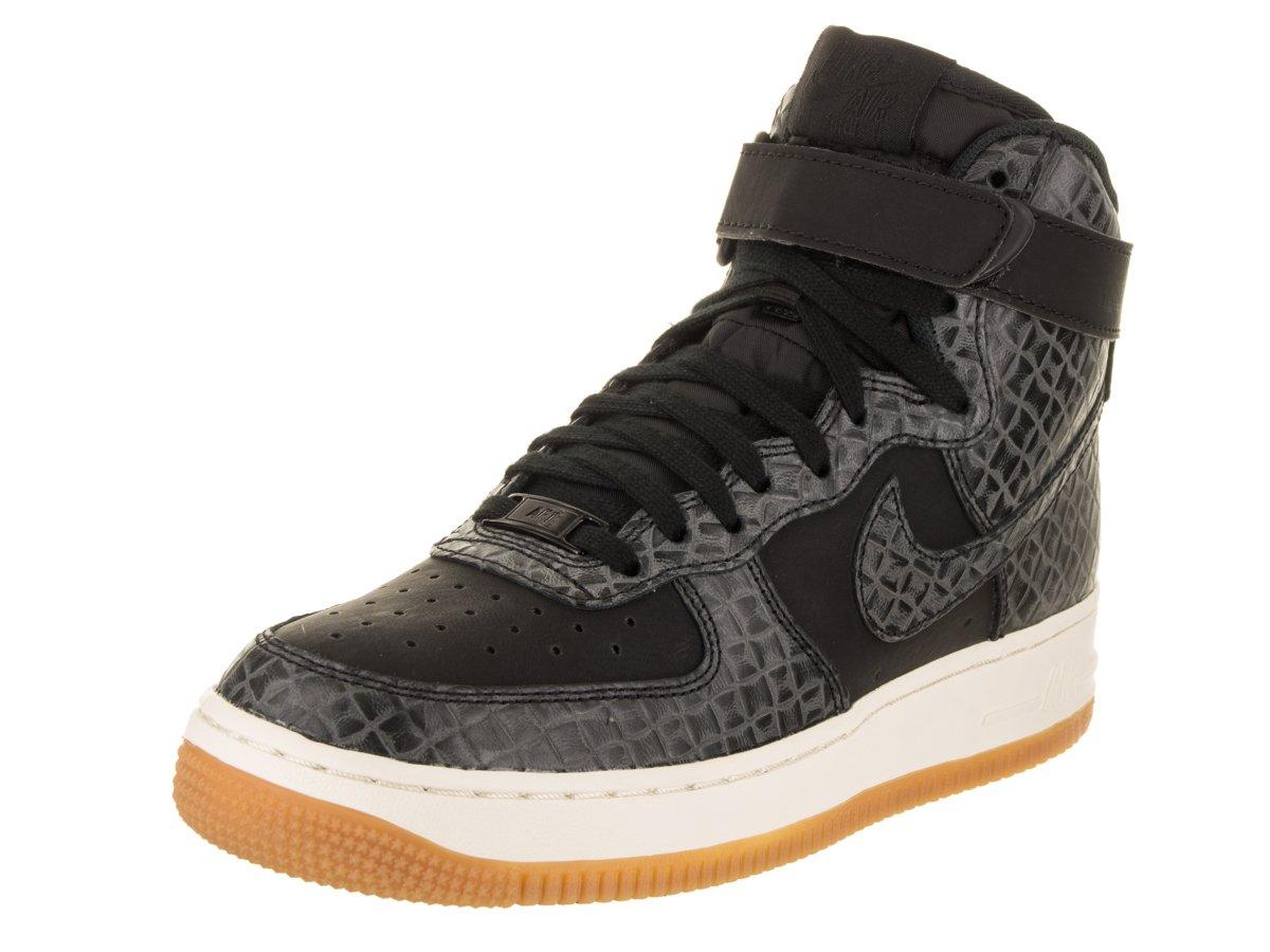 Nike Women's Air Force 1 Hi Premium Black/Black Gum Med Brown Sail Basketball Shoe B01NBTUB5L 8 B(M) US|Black/Black-Gum Medium Brown-Sail