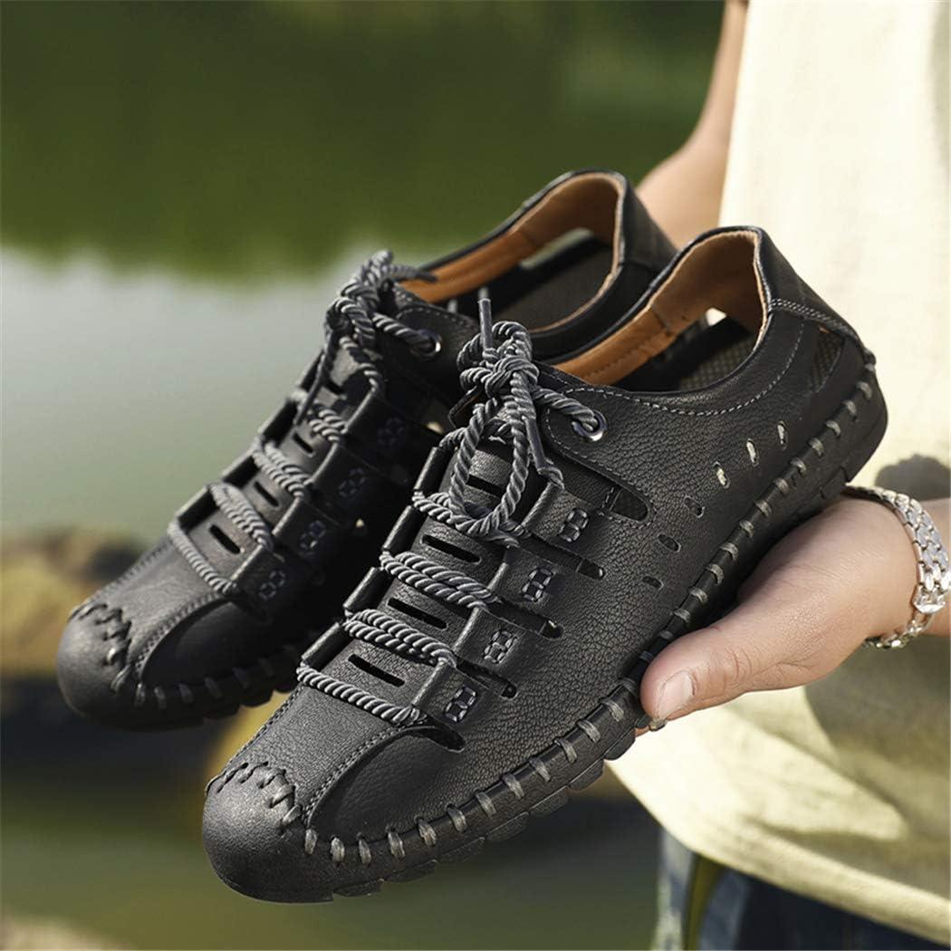 Men Sandals Leather Summer Shoes Classics Comfort Beach Sandals Hollow Men Shoes
