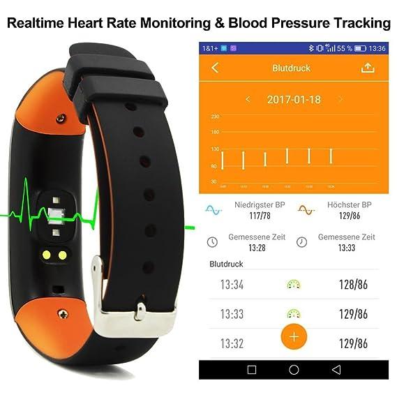 Fitness Tracker Heart Rate pulsera Presión Sanguínea inteligente ...