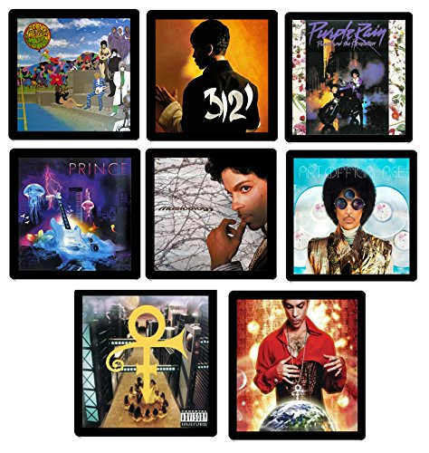 Prince (Musician) Collectible MEGA Coaster Gift Set - (8) Different Album Covers Reproduced Onto Soft Coasters