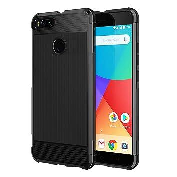 SPARIN [2 Unidades] Funda Xiaomi Mi A1, Caracasa Xiaomi Mi A1 TPU Negro [Flexibilidad] Carcasa, Funda de Silicona, [contra Arañazos] [Anti-Golpe] ...
