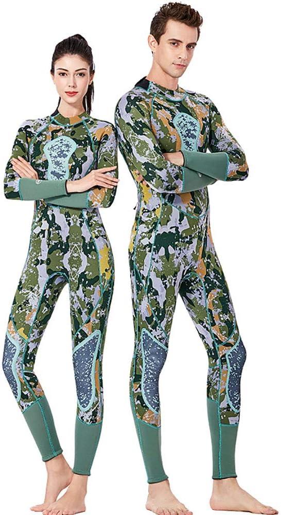 シャムダイビングスーツ男性と女性フル3ミリメートルネオプレンサーフスーツバックジッパー用ダイビングシュノーケリング水泳 Men XL